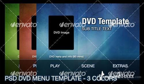 GraphicRiver 3 Color DVD Menu
