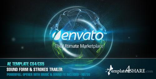 AE CS4 - Sound Form & Strokes Trailer - Project for After Effects (Videohive)