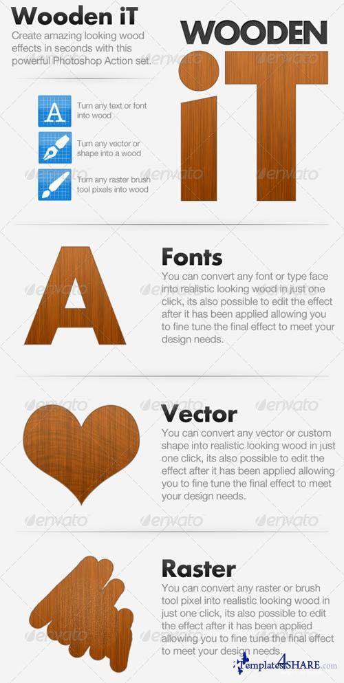 GraphicRiver Wooden iT - Convert To Wood Action