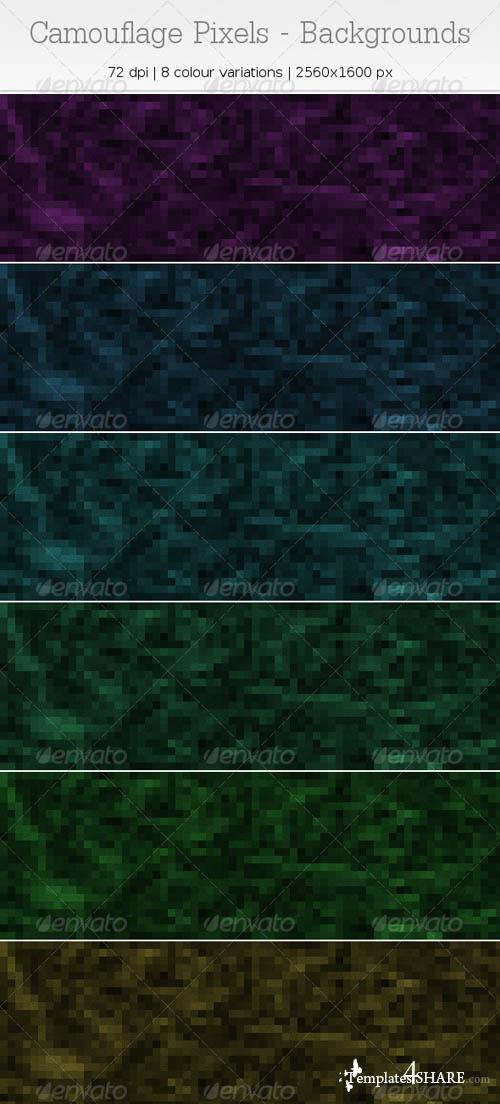 GraphicRiver Camouflage Pixels - Backgrounds