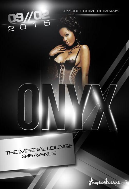 Onyx Dance Party Flyer Template