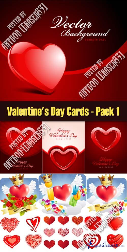 Valentine's Day Cards - Pack 1