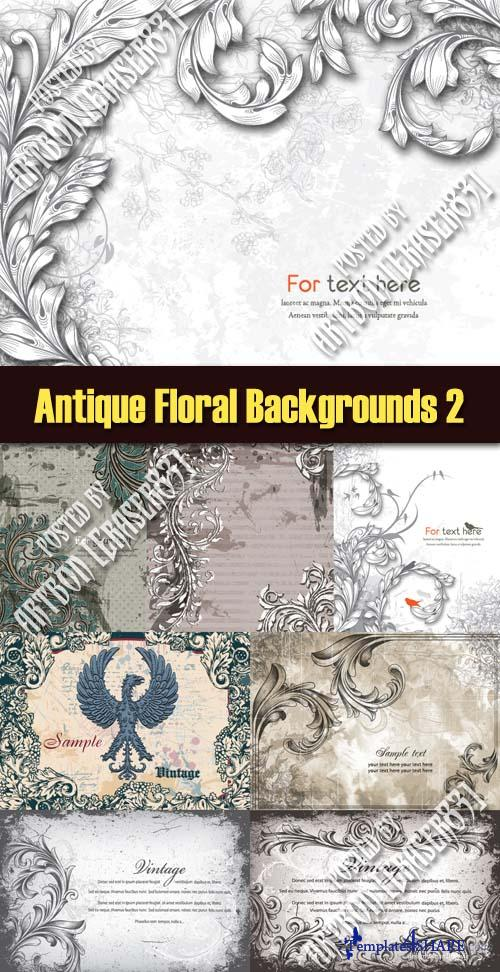 Antique Floral Backgrounds - Vector Pack 2