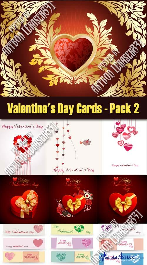 Valentine's Day Cards - Pack 2