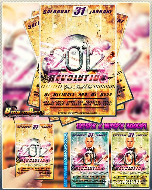 Freemium 2012 Revolution Flyer - PSD Template