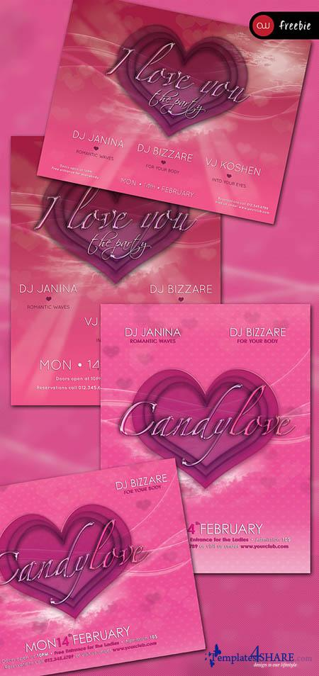 Valentines Flyer/Poster PSD Template