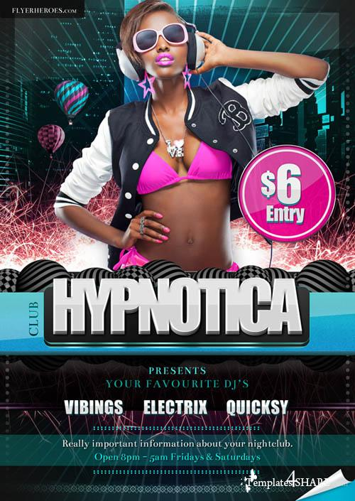 Hypnotica Club Flyer - PSD Template
