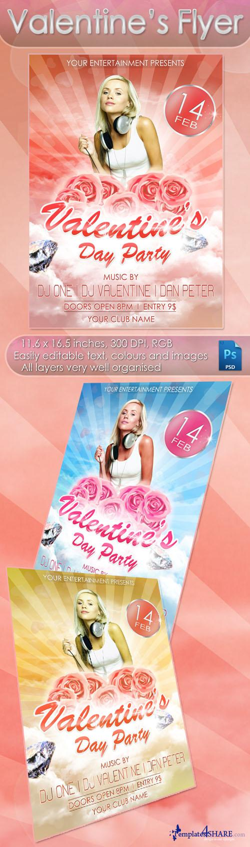 Valentines Flyer/Poster PSD Template 2