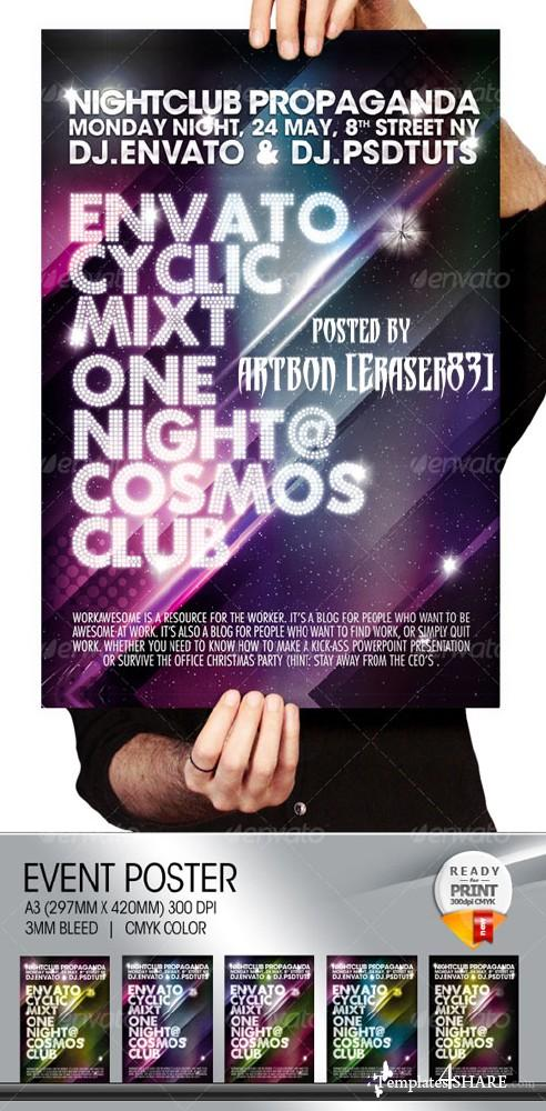 GraphicRiver Cosmos Summer Party / Nightclub Poster & Flayer - REUPLOAD