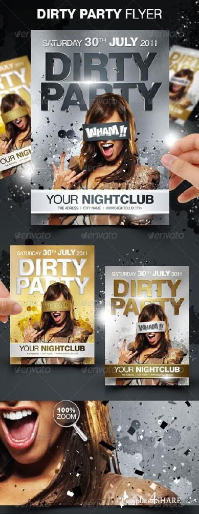GraphicRiver Dirty Party Flyer - REUPLOAD