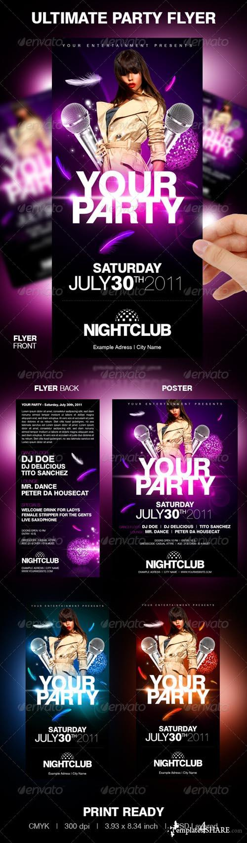 GraphicRiver Ultimate Party Flyer - REUPLOAD