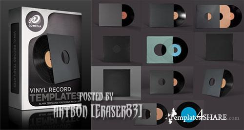 Go Media's Arsenal: Vinyl Record Mockup Templates (PSD) - REUPLOAD