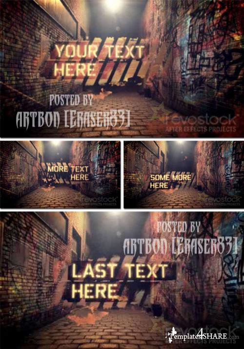 Graffiti Alley - Project for After Effects (Revostock) - REUPLOAD