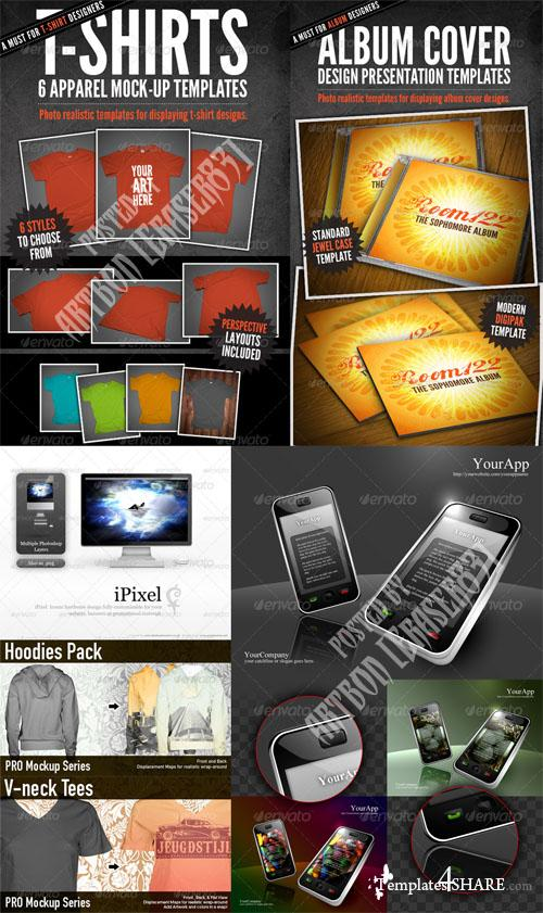 GraphicRiver Fashion Items Mockups and Electronic Object Pack - REUPLOAD