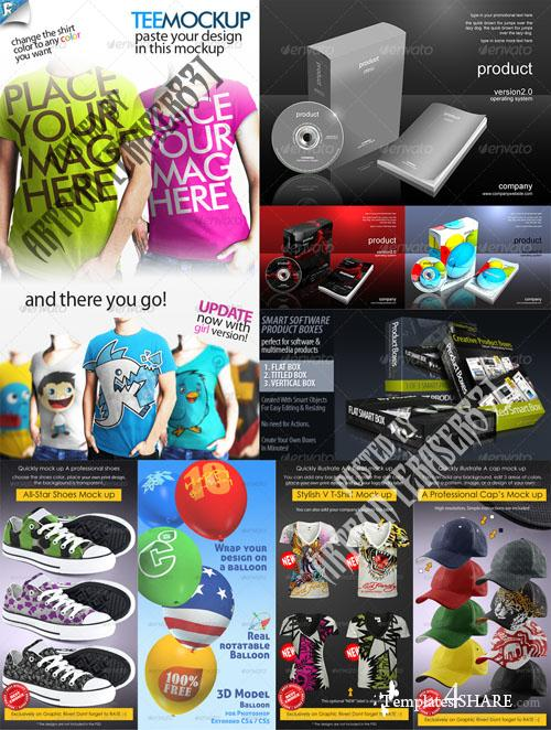 GraphicRiver Fashion Items Mockups and 3D Boxes Pack - REUPLOAD