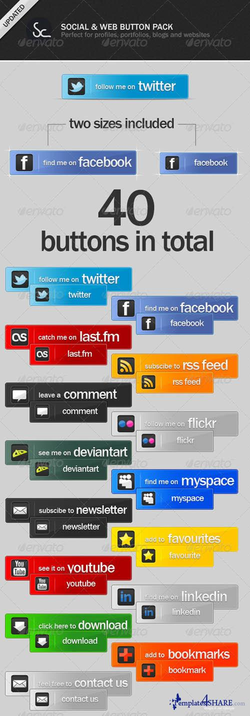 GraphicRiver Social and Web Buttons Pack - REUPLOAD