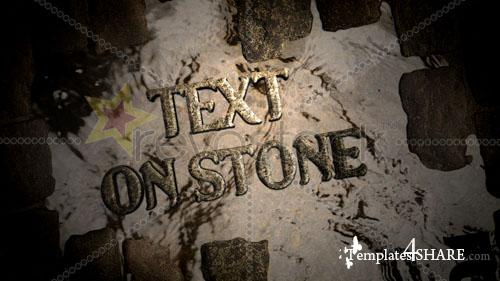 Text On Paving Stone - Project for After Effects (Revostock)