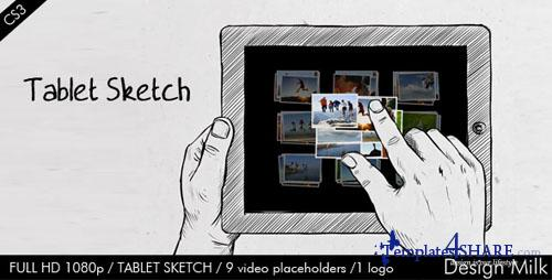 Tablet Sketch - Project for After Effects (VideoHive)