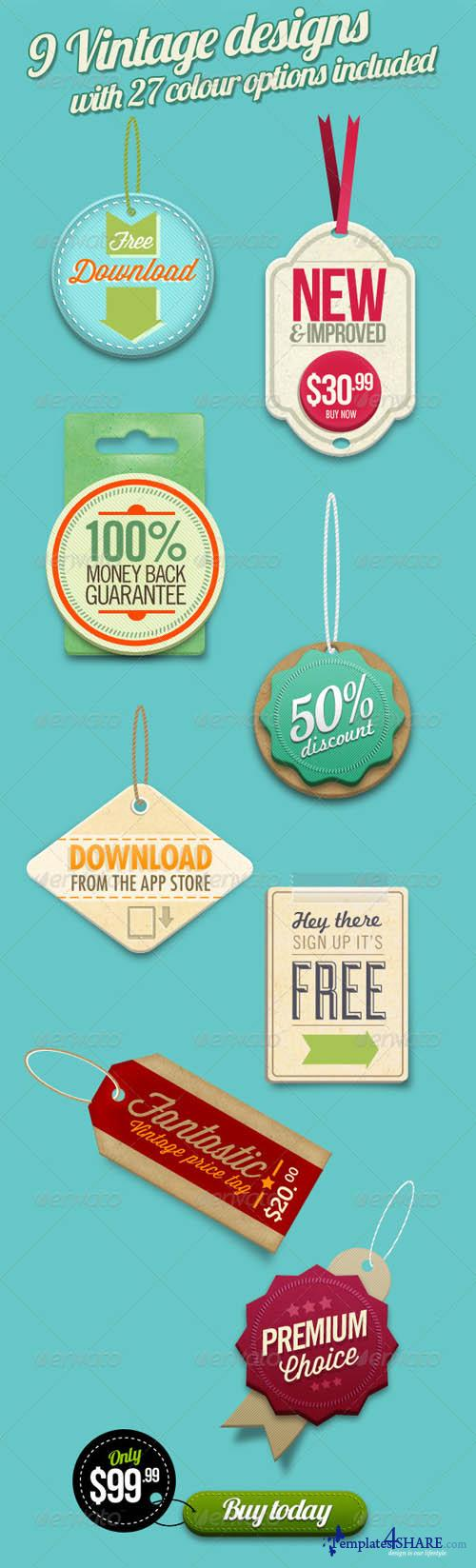 GraphicRiver Retro Vintage Labels