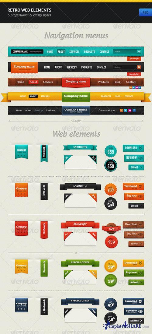 GraphicRiver Retro Web Elements