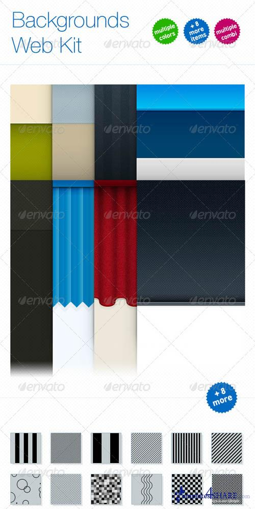 GraphicRiver Backgrounds Web Kit