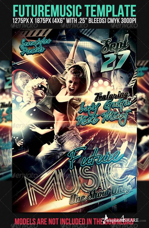 GraphicRiver Future Music Flyer Template
