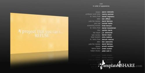 10 Film Credits - Project for After Effects (VideoHive)