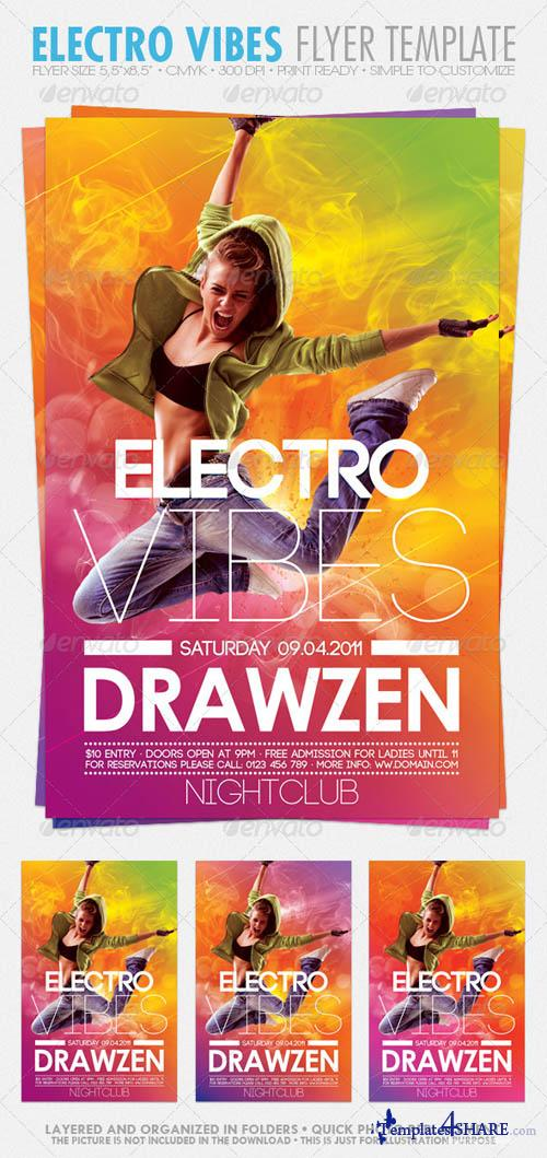 GraphicRiver Electro Vibes Flyer