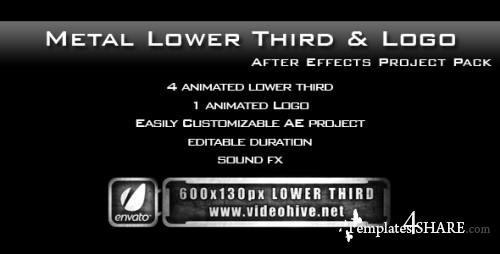 Metal Lower Third & Logo AE Project PACK - Project for After Effects (VideoHive)