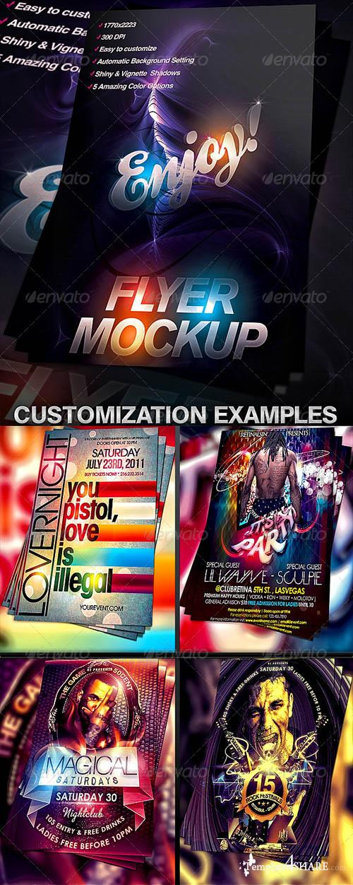GraphicRiver Flyer Mock-up Template