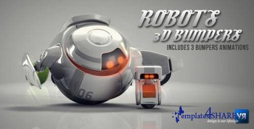 Robots 3D logo bumpers - Project for After Effects (VideoHive)
