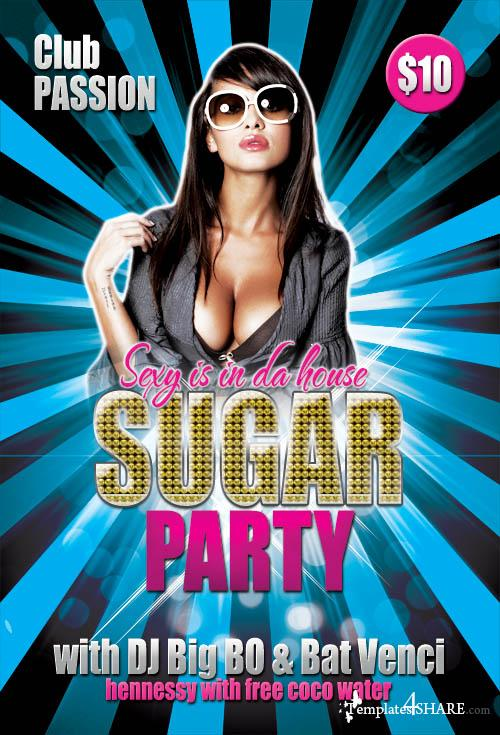 Sugar Party Flyer Template (PSD)