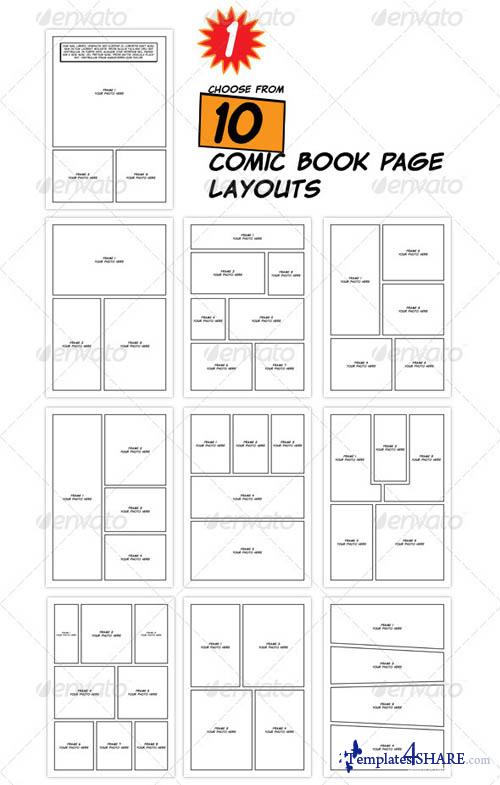 comic book page template psd - graphicriver comic book creation kit