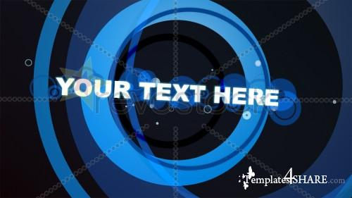 Blue Rings With Text - Projects for After Effects (Revostock)