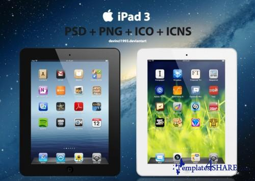 Apple iPad 3 PSD Template