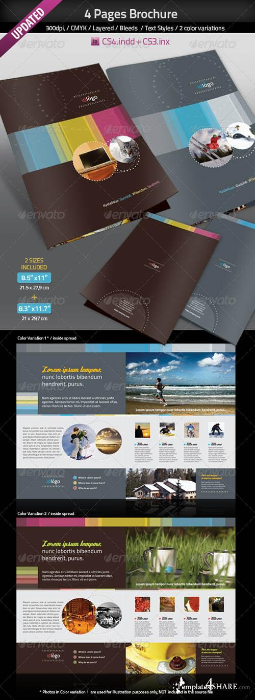GraphicRiver 4pages A4 Brochure