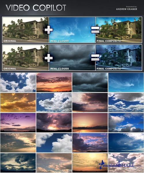 Video Copilot - Real Clouds (24 Time-Lapse Clouds Elements)