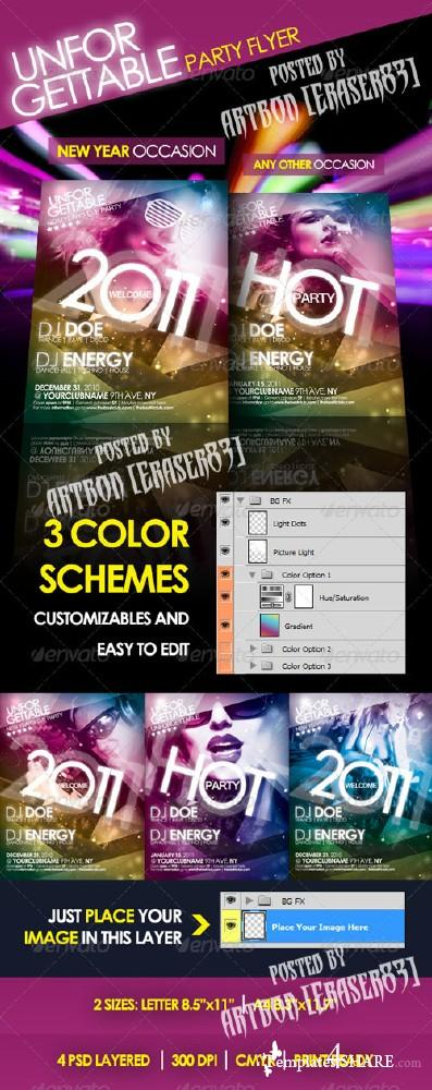 GraphicRiver Unforgettable Party Flyer - REUPLOAD