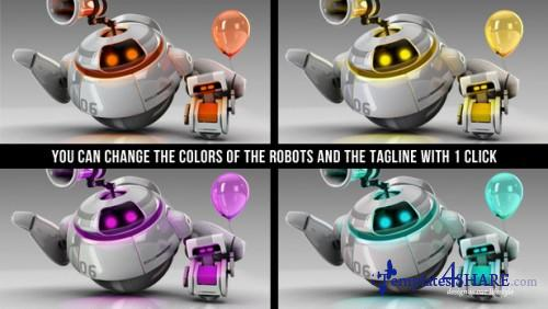 Robots 3D logo bumpers II - Project for After Effects (VideoHive)