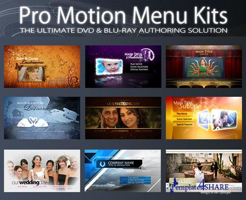 Precomposed - Pro Motion Menu Kits - Full Collection 01-09 (+ Tutorials)