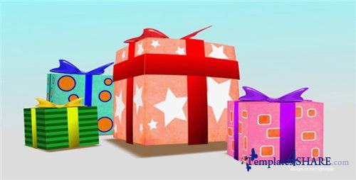 Present Box Birthday - Project for After Effects (Videohive)