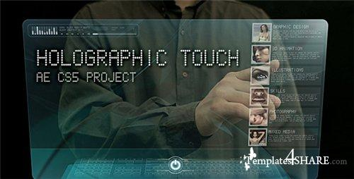 Holographic touch - Project for After Effects (Videohive)