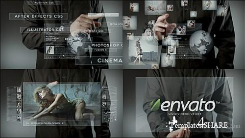 Holographic Touch II - Project for After Effects (Videohive)
