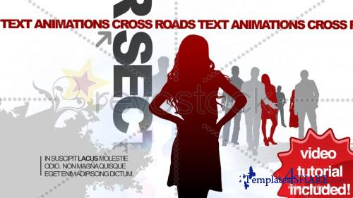 CrossRoads Text Animations - Projects for After Effects (Revostock)