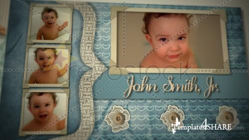 Baby Boy Scrapbook - Projects for After Effects (Revostock)