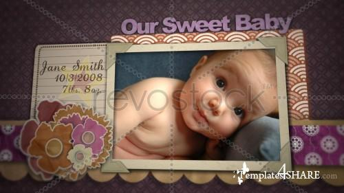 Baby Girl Scrapbook - Projects for After Effects (Revostock)