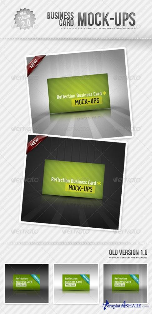 GraphicRiver Reflection Business Card Mockup - REUPLOAD