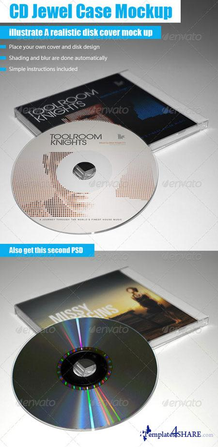 GraphicRiver CD Jewel Case Mockup - REUPLOAD