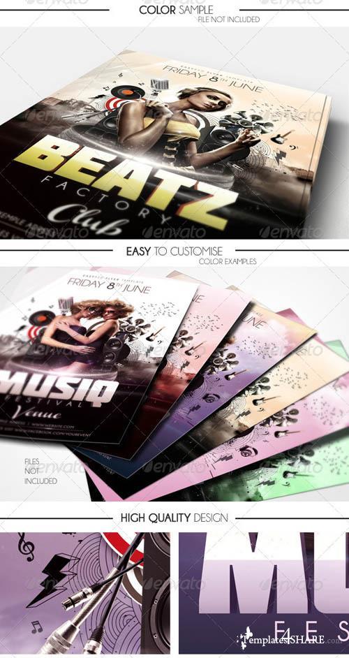 GraphicRiver Musiq Flyer Template