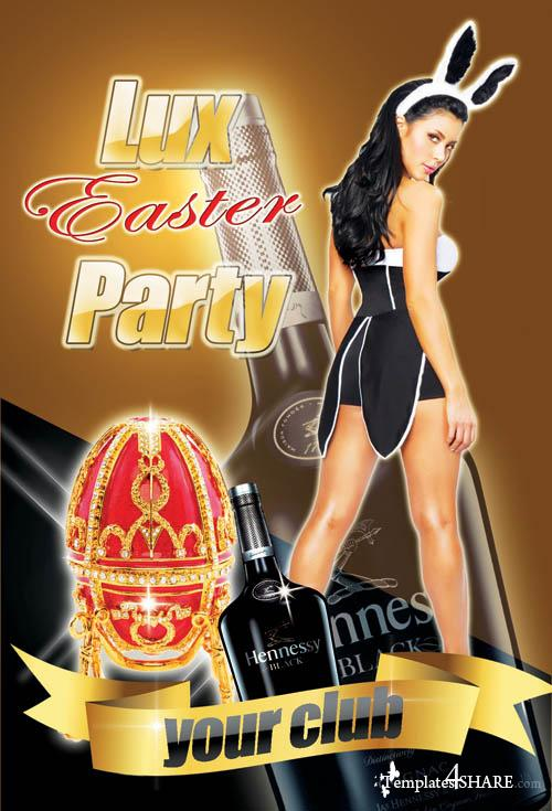 Easter Bunny Lux Party Flyer (PSD)